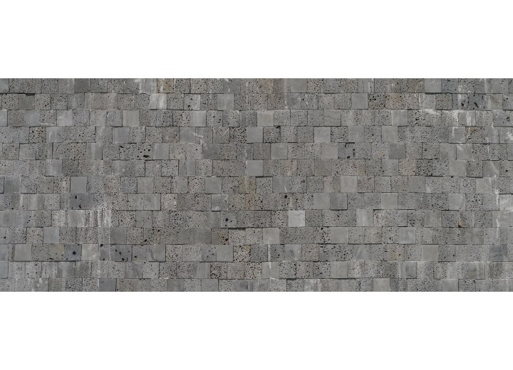 Fotobehang Stenen, Muur   Grijs   250x104cm