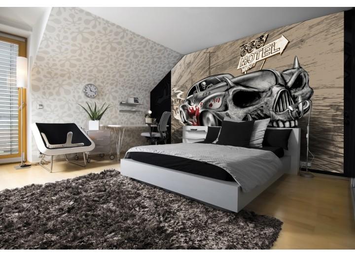 Fotobehang Vlies | Alchemy Gothic, Auto | Grijs | 368x254cm (bxh)