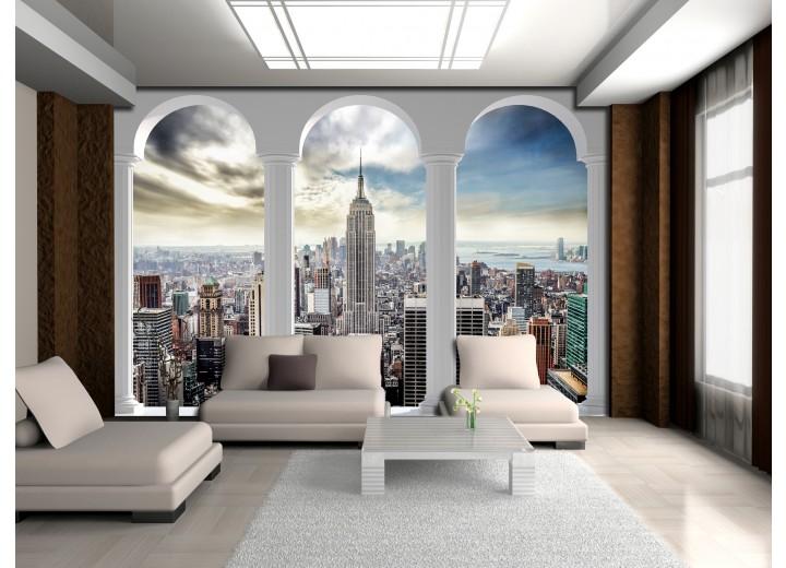 Fotobehang Skyline, Modern | Wit | 416x254