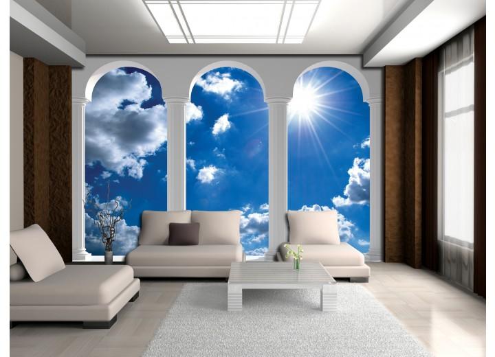 Fotobehang Lucht, Wolken | Blauw | 104x70,5cm