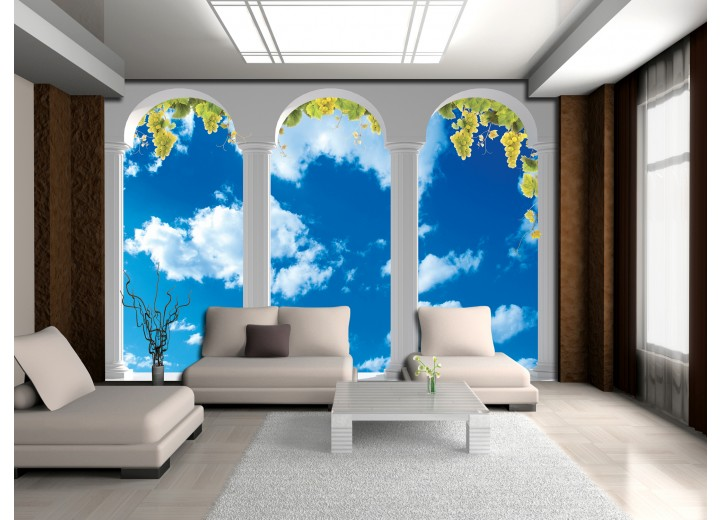 Fotobehang Natuur, Lucht | Blauw | 416x254