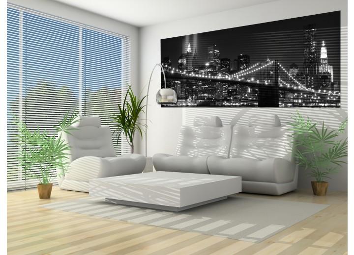 Fotobehang New York | Zwart | 250x104cm