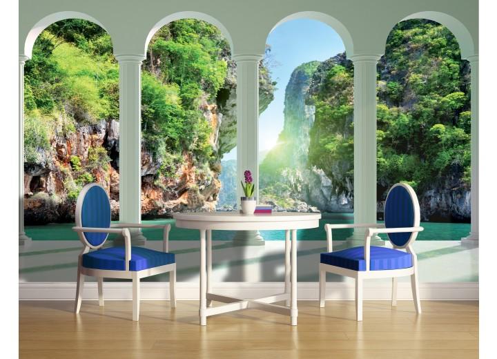 Fotobehang Vlies | Natuur, Water | Groen | 368x254cm (bxh)