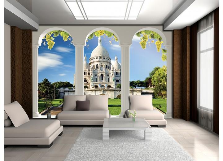 Fotobehang Natuur, Gebouw | Groen | 152,5x104cm