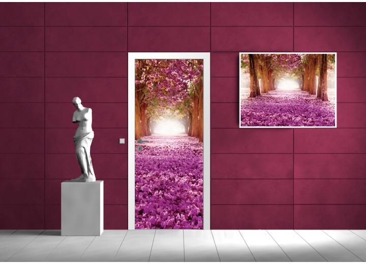Fotobehang Natuur | Paars, Roze | 91x211cm