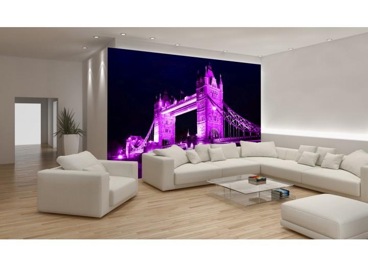 Fotobehang London | Paars | 152,5x104cm