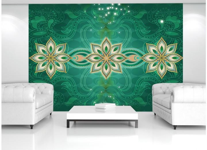 Fotobehang Modern | Groen | 152,5x104cm