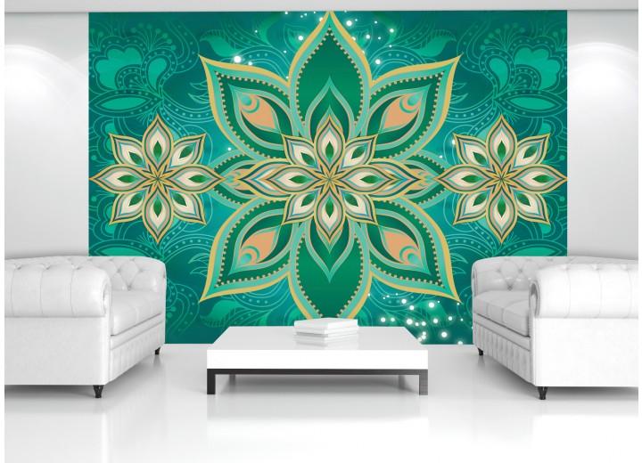 Fotobehang Modern | Groen | 416x254