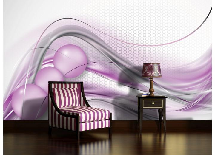 Fotobehang Design | Paars, Zilver | 312x219cm