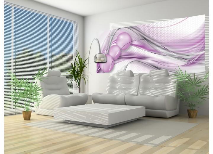 Fotobehang Design | Paars, Zilver | 250x104cm