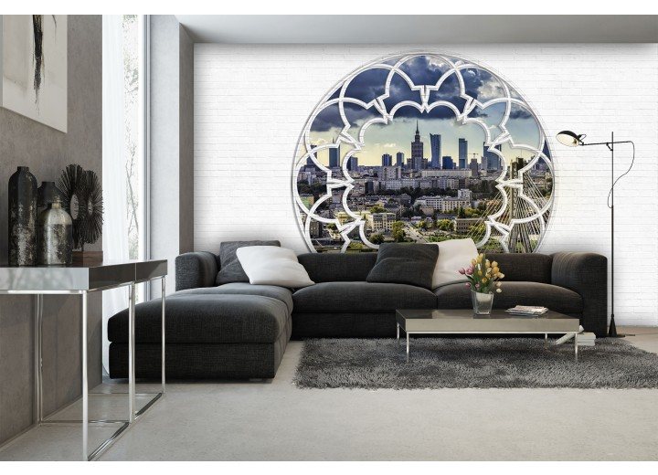 Fotobehang Vlies | Modern, Skyline | Wit | 368x254cm (bxh)