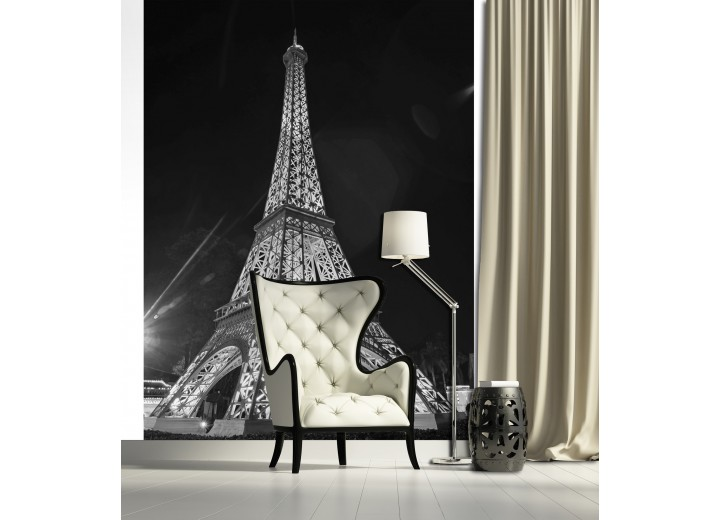 Fotobehang Papier Parijs, Eiffeltoren | Grijs | 184x254cm