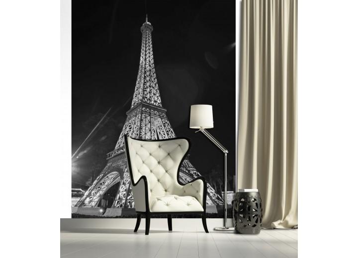 Fotobehang Eiffeltoren | Zwart | 206x275cm