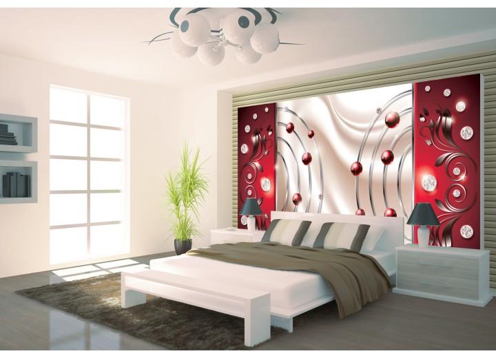 Fotobehang Papier Modern | Rood | 254x184cm