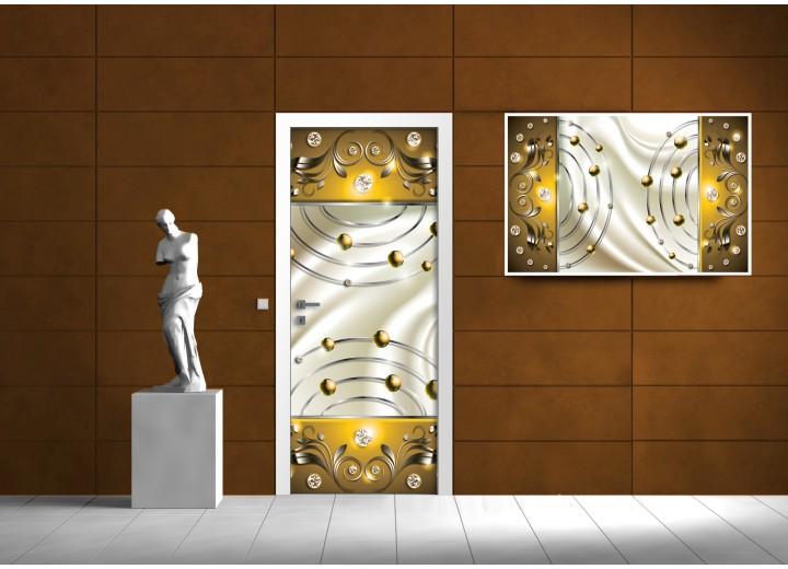 Fotobehang Design   Goud   91x211cm