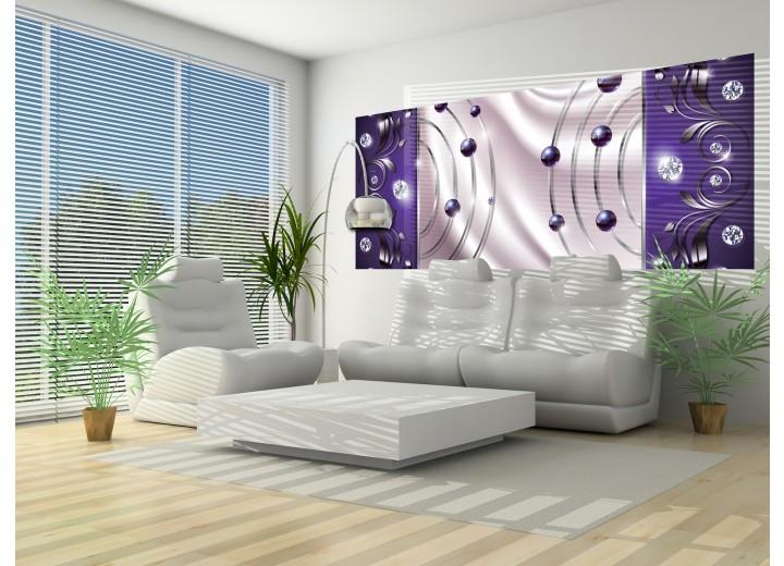 Fotobehang Modern | Paars, Zilver | 250x104cm