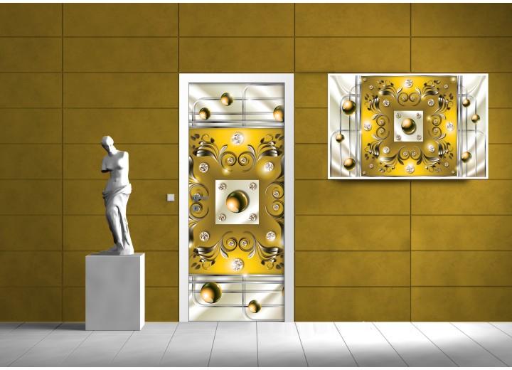 Fotobehang Design | Goud | 91x211cm