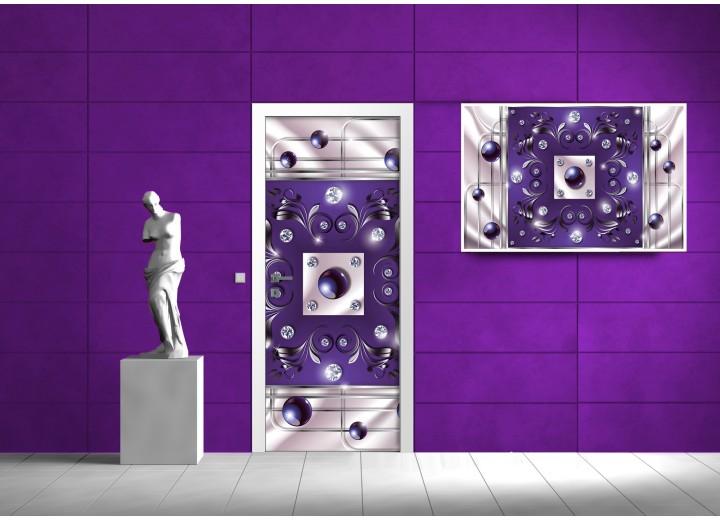 Fotobehang Design | Paars | 91x211cm
