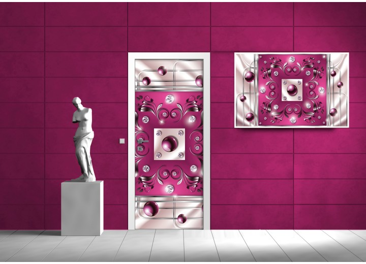 Fotobehang Design   Roze   91x211cm