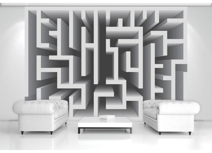 Fotobehang Design, Doolhof | Grijs | 208x146cm