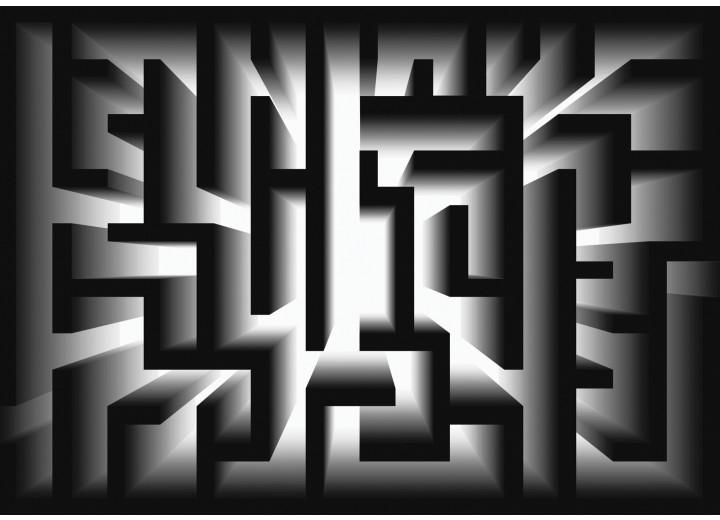 Fotobehang Papier Design, Doolhof | Zwart | 254x184cm