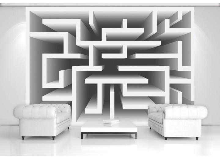 Fotobehang Design, Doolhof | Grijs | 416x254