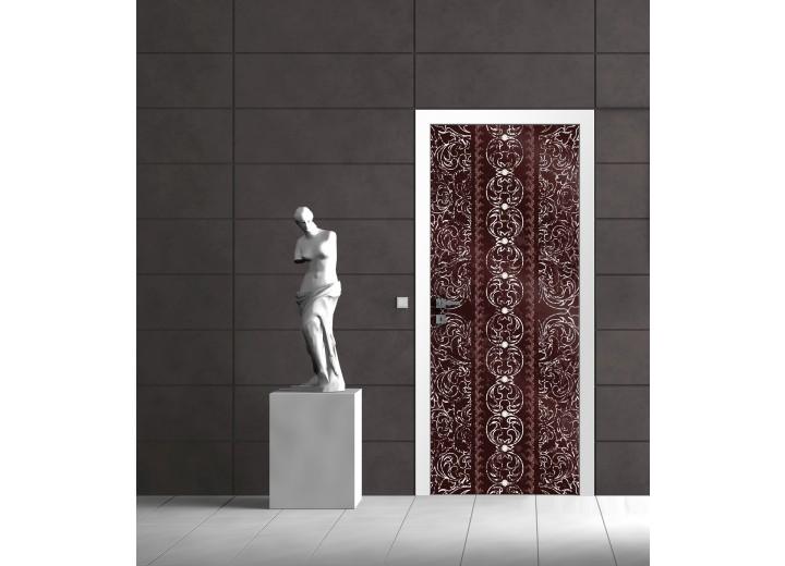 Deursticker Muursticker Abstract   Bruin   91x211cm