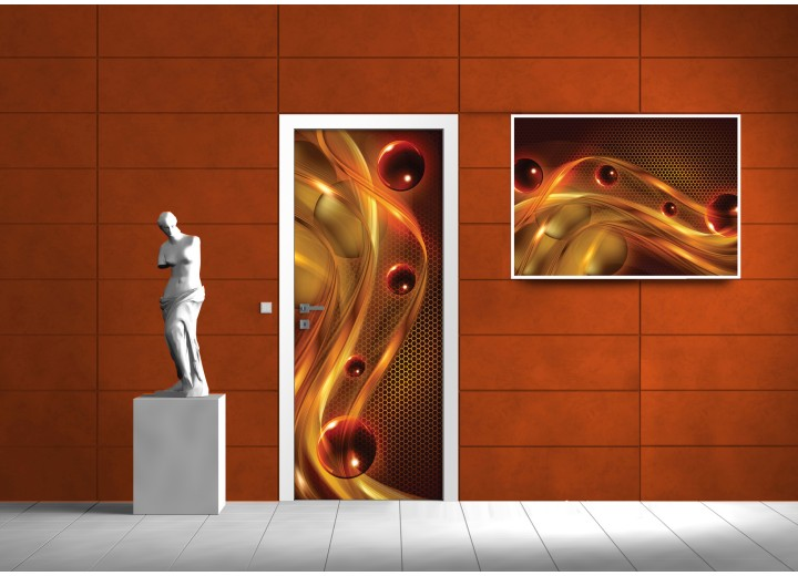 Fotobehang Modern | Bruin, Oranje | 91x211cm