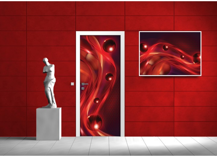 Fotobehang Modern | Rood | 91x211cm