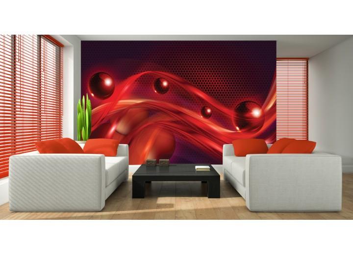 Fotobehang Vlies | Design | Rood, Zwart | 368x254cm (bxh)