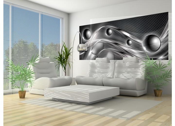 Fotobehang Design | Zilver | 250x104cm