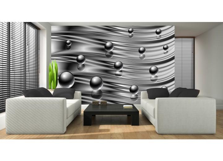 Fotobehang Vlies | Design | Zilver | 368x254cm (bxh)