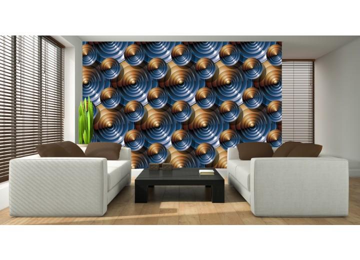 Fotobehang Vlies | Design | Bruin, Blauw | 368x254cm (bxh)
