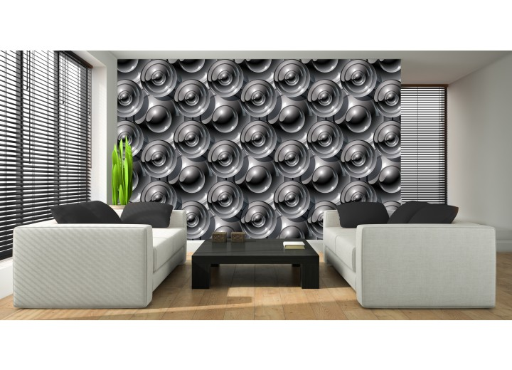 Fotobehang Vlies | Design | Grijs | 368x254cm (bxh)