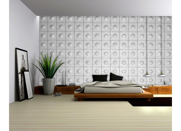 Fotobehang Vlies | Modern | Zilver, Grijs | 368x254cm (bxh)