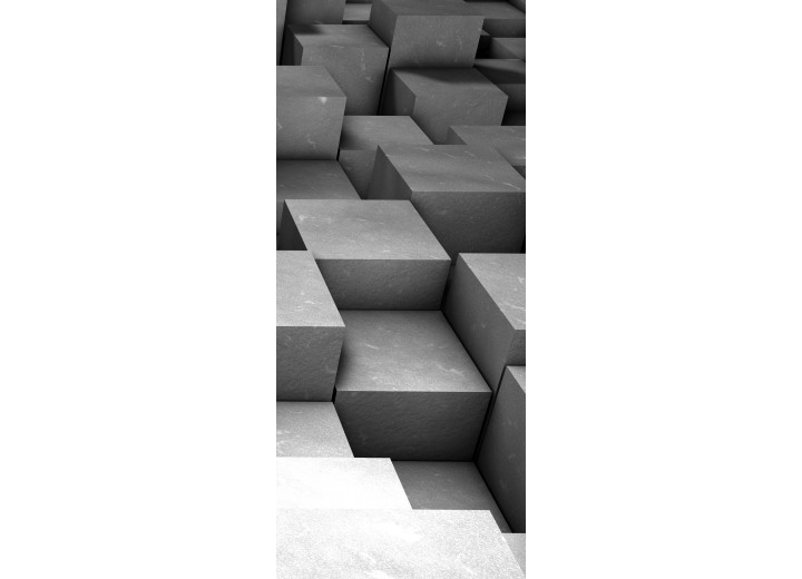 Fotobehang 3D | Grijs | 91x211cm