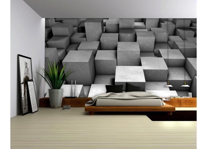Fotobehang Vlies | 3D | Zilver | 368x254cm (bxh)