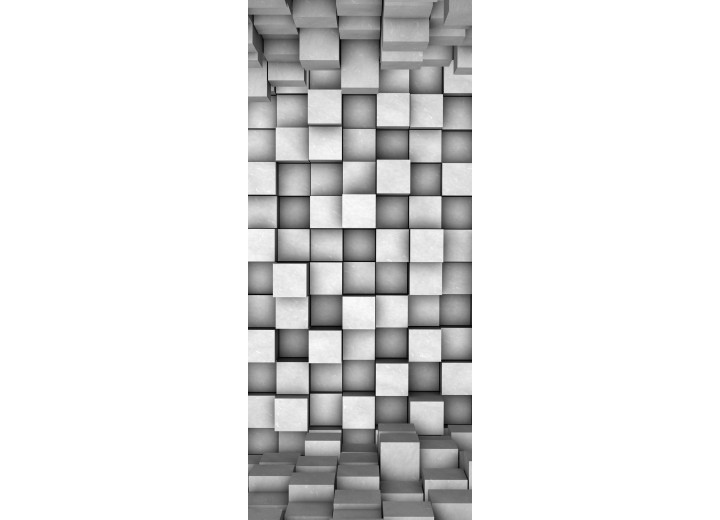 Deursticker Muursticker Abstract   Grijs   91x211cm