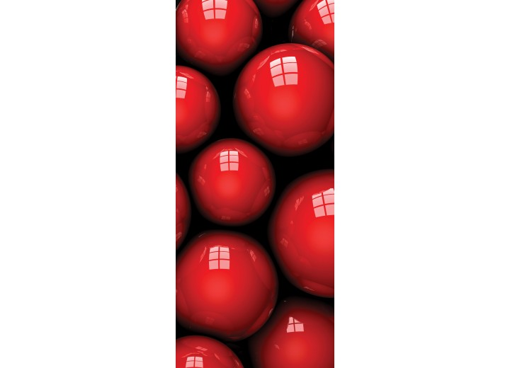 Fotobehang 3D | Rood, Zwart | 91x211cm
