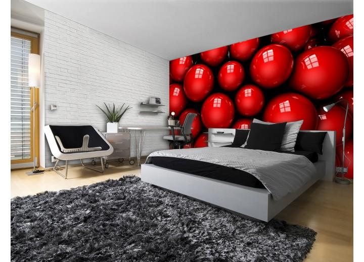 Fotobehang Modern | Rood, Zwart | 104x70,5cm