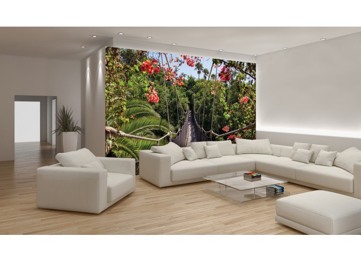 Fotobehang Papier Bloemen, Natuur | Groen | 254x184cm