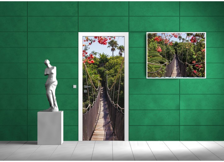 Deursticker Muursticker Brug | Groen | 91x211cm