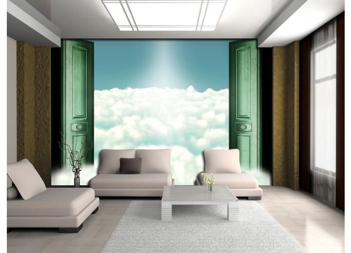 Fotobehang Vlies   Wolken   Groen   368x254cm (bxh)
