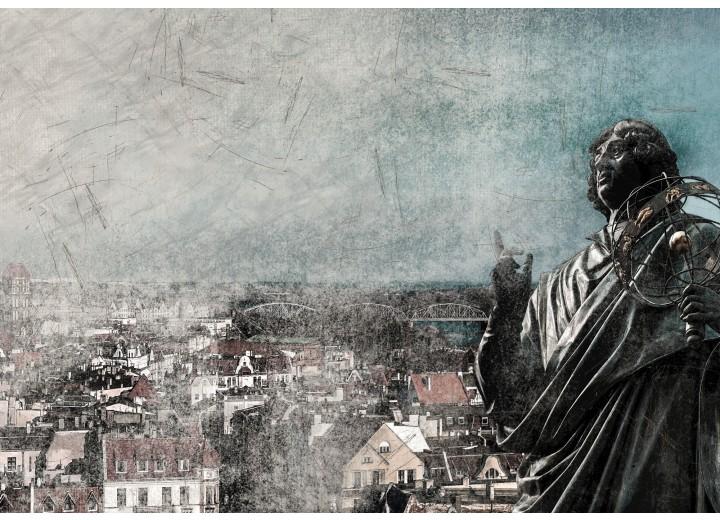 Fotobehang Papier Nicolaas Copernicus   Grijs   254x184cm