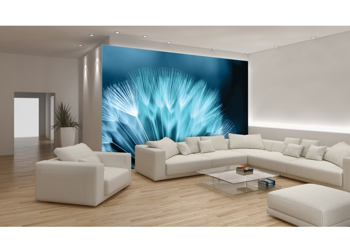 Fotobehang Vlies   Bloemen   Blauw   368x254cm (bxh)