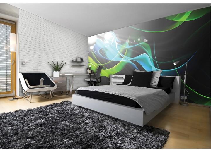 Fotobehang Vlies   Design   Grijs, Groen   368x254cm (bxh)