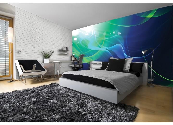Fotobehang Vlies   Design   Groen, Blauw   368x254cm (bxh)