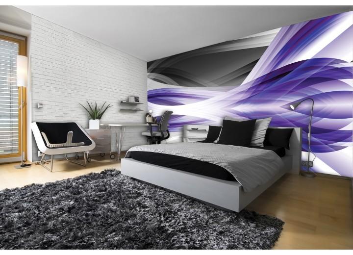 Fotobehang Vlies | Design | Grijs, Paars | 368x254cm (bxh)