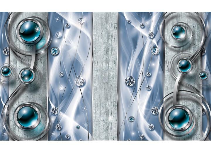 Fotobehang Papier Design, Modern   Blauw   254x184cm