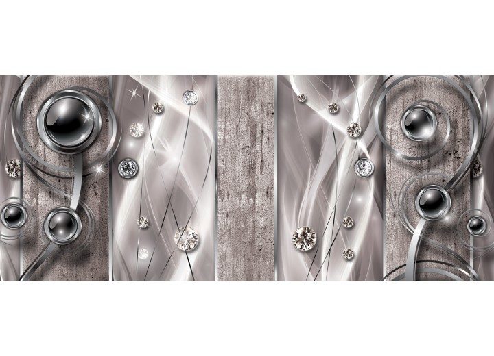 Fotobehang Design, Modern   Zilver   250x104cm